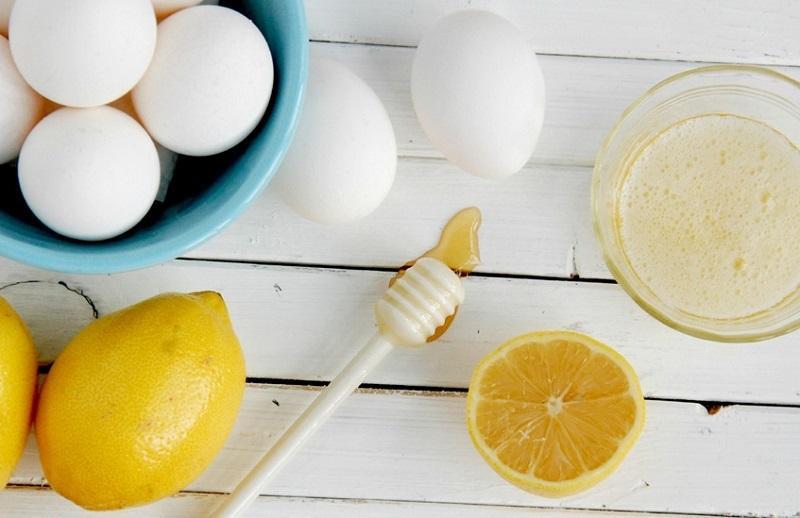 Chanh và trứng gà trị gàu tại nhà