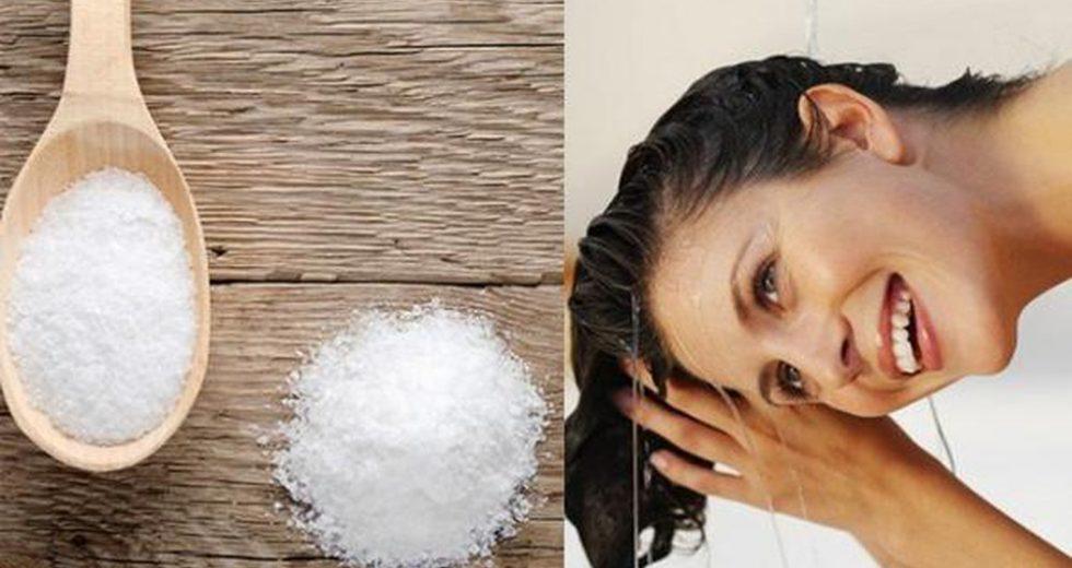 Cách điều trị gàu bằng muối