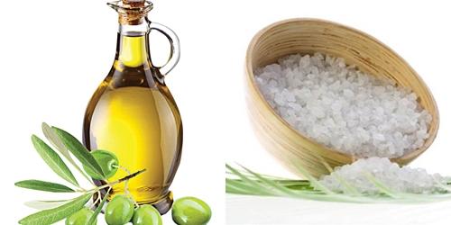 Kết hợp muối và dầu oliu để điều trị gàu