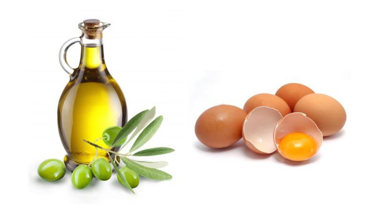 Dầu oliu cũng như trứng gà chữa trị gàu