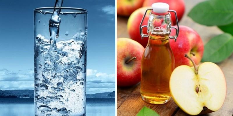 Massage với giấm táo nguyên chất chữa gàu