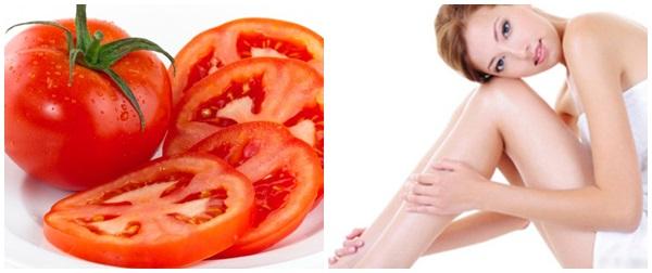 Triệt lông chân bằng cà chua
