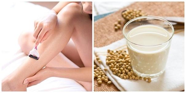 tẩy lông tại nhà với Lotion và sữa đậu nành