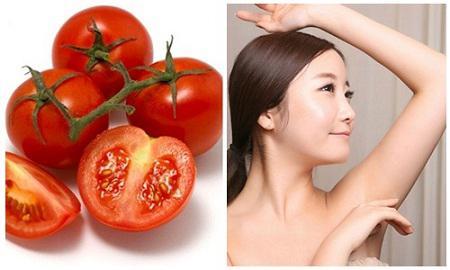 Triệt lông nách bằng cà chua