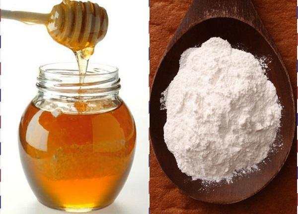 Tẩy lông chân bằng mật ong Và bột mì