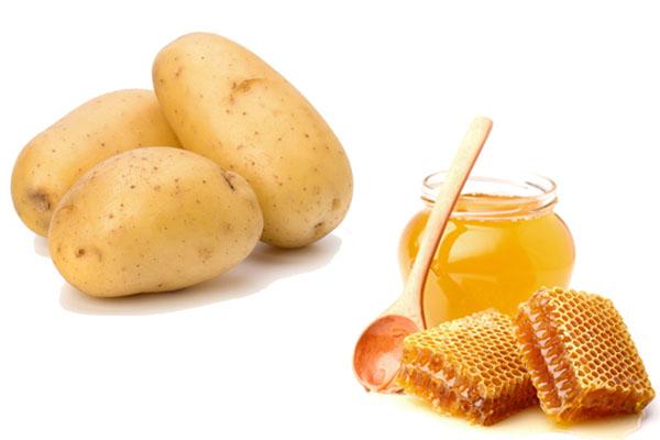 Tẩy lông chân bằng mật ong, khoai tây
