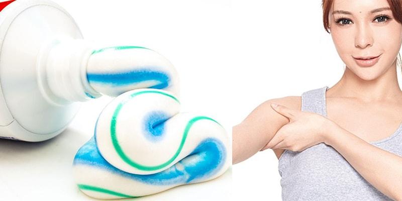 tẩy lông nách kem đánh răng