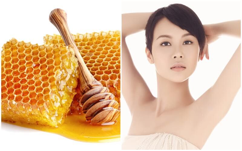 cách tẩy lông nách bằng mật ong