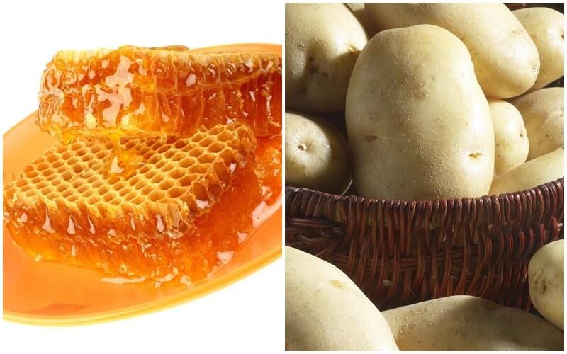 triệt lông nách bằng mật ong and khoai tây