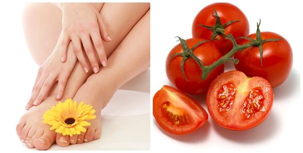 Tẩy lông bằng cà chua nguyên chất