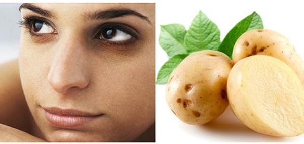 khoai tây trị thâm quầng mắt