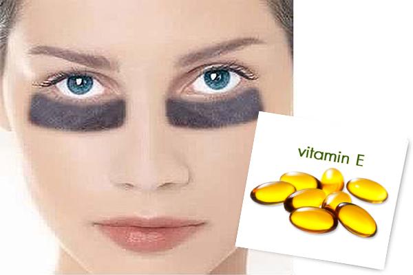 Vitamin E trị thâm quầng mắt