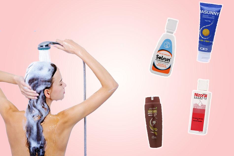 dầu gội đầu trị nấm da đầu