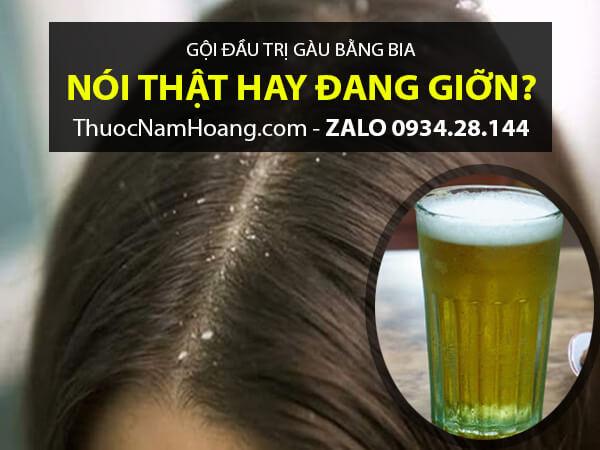 Cách trị gàu và bị rụng tóc với bia