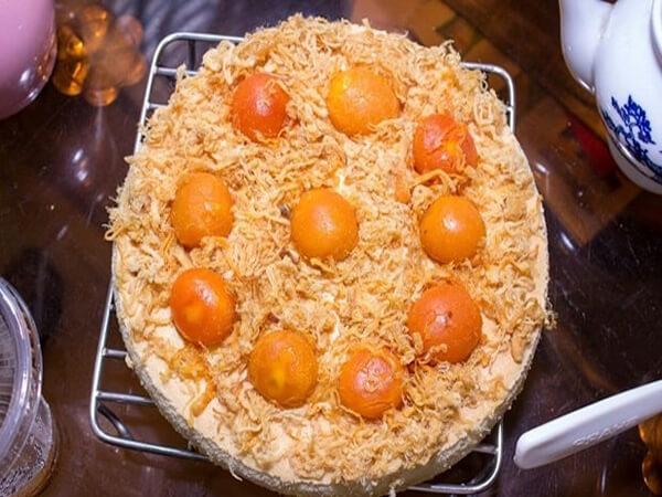 Nướng bánh keto bông lan trứng muối