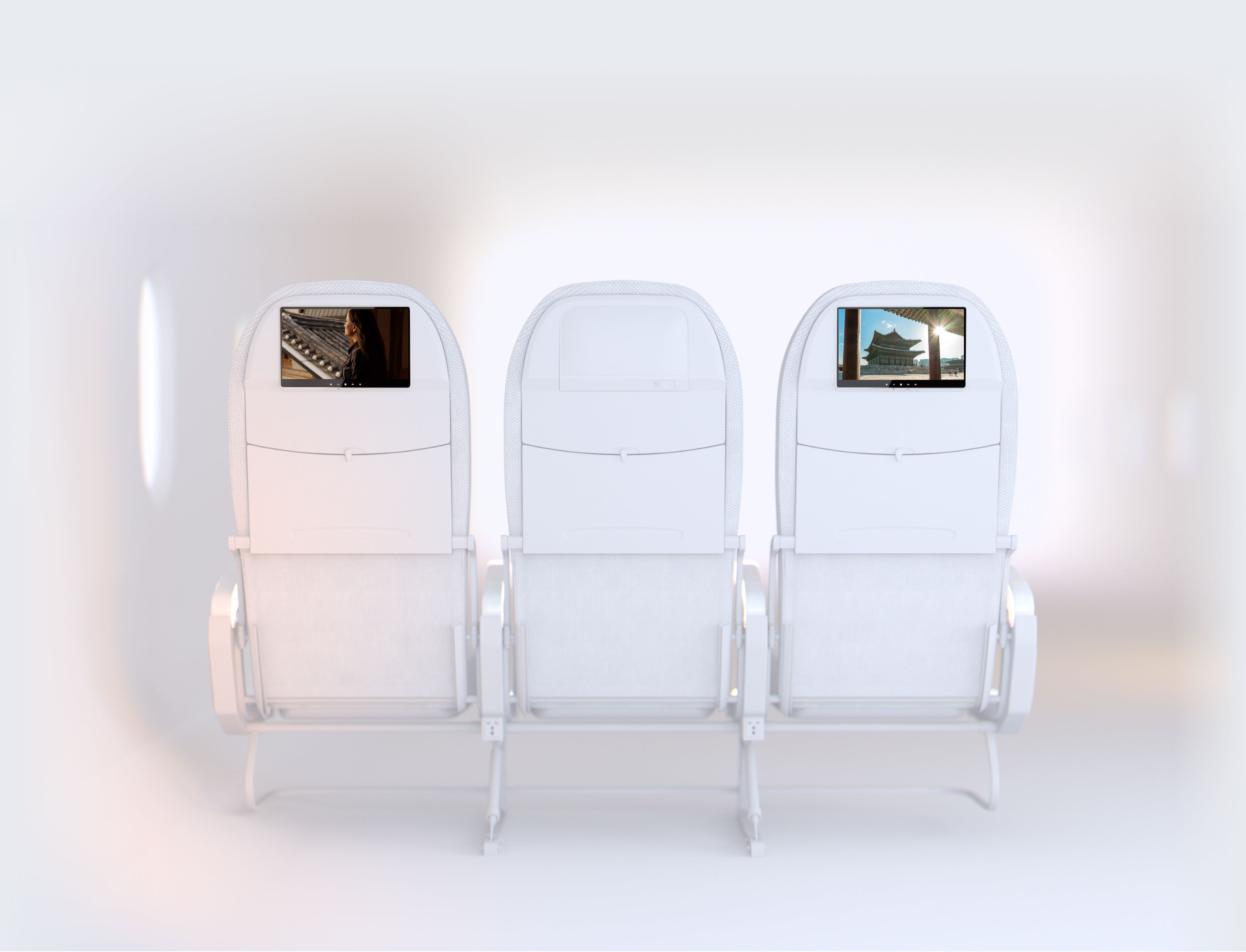 Airplane Seat Row