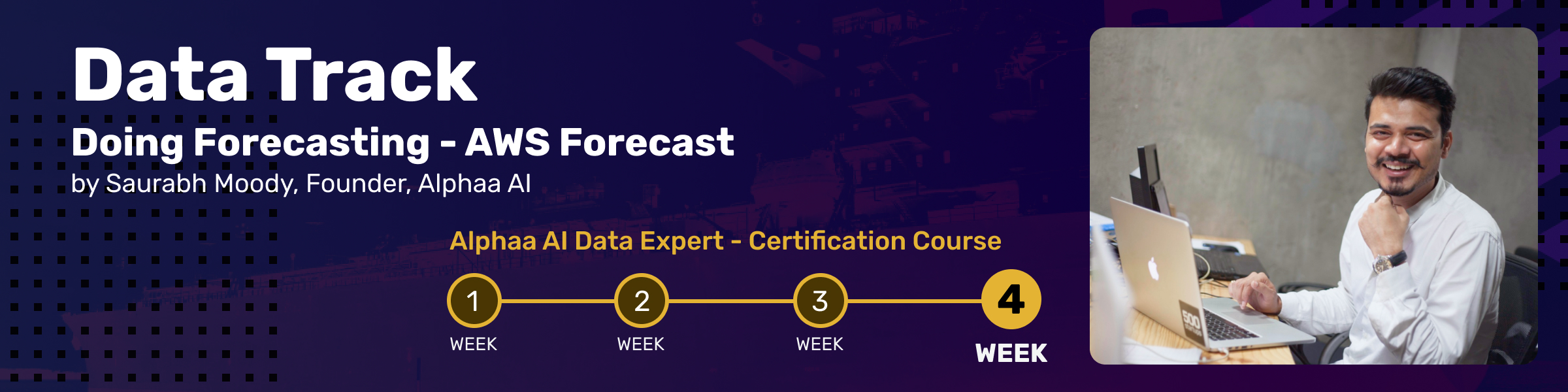 This is the fourth Session of Alphaa AI Data Expert Certification Course: Data Track 4.In the final chapter, we will focus on predictive analytics using popular online AI/ML services (Such as AWS). The session will focus on creating easy forecast models for business use-cases. This will also include a live demo.