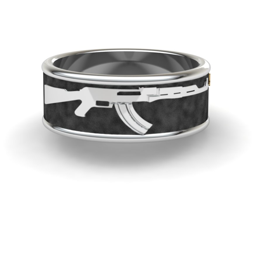 Ak-47 Gun Ring-10mm