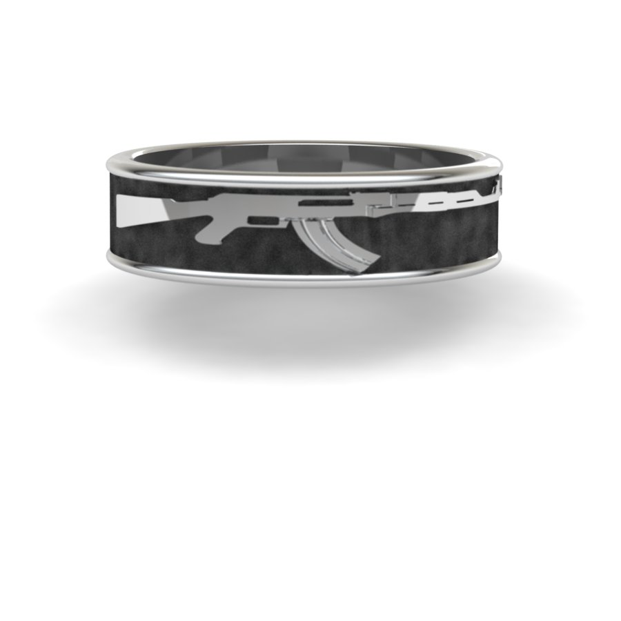 AK-47 Gun Ring-6mm