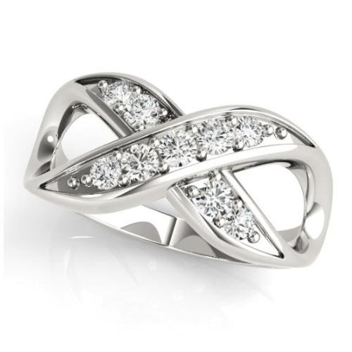 Amara Diamond/Moissanite Infinity Ring