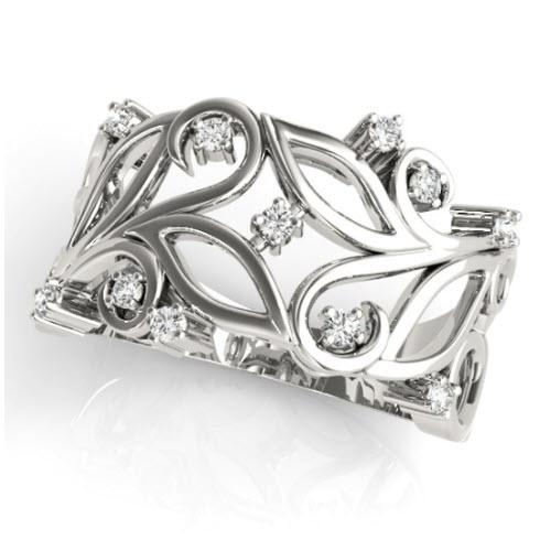 Anika Diamond/Moissanite Ring
