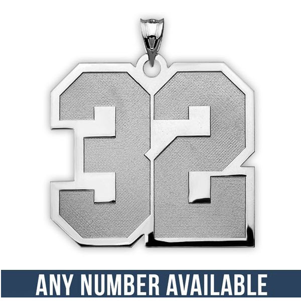 """Sports Number Pendant 1""""-2 Numbers"""