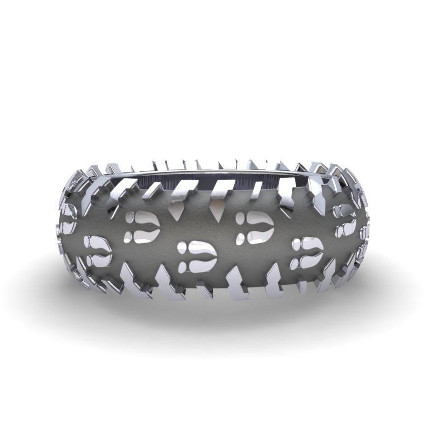 Deer Print Tire Ring-10mm