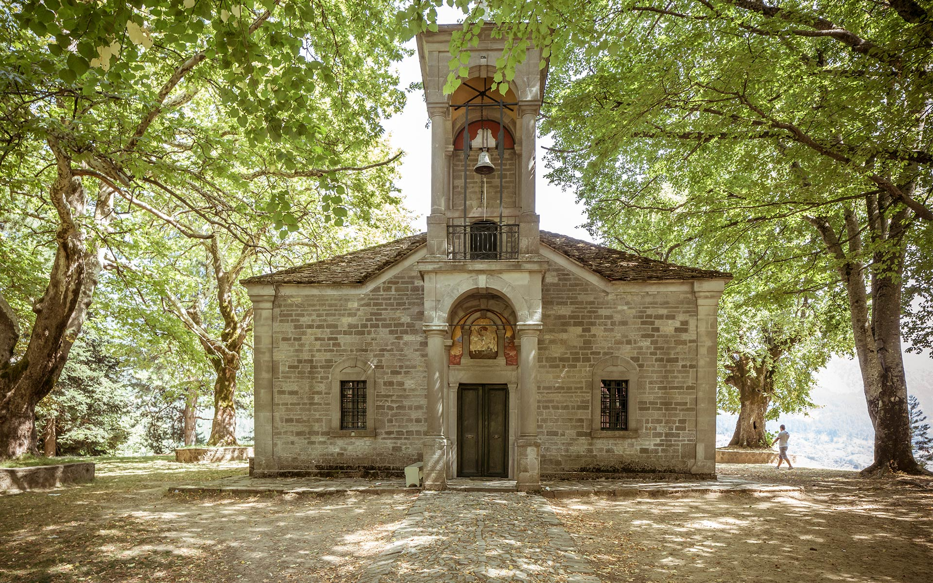 Grand Forest Metsovo church