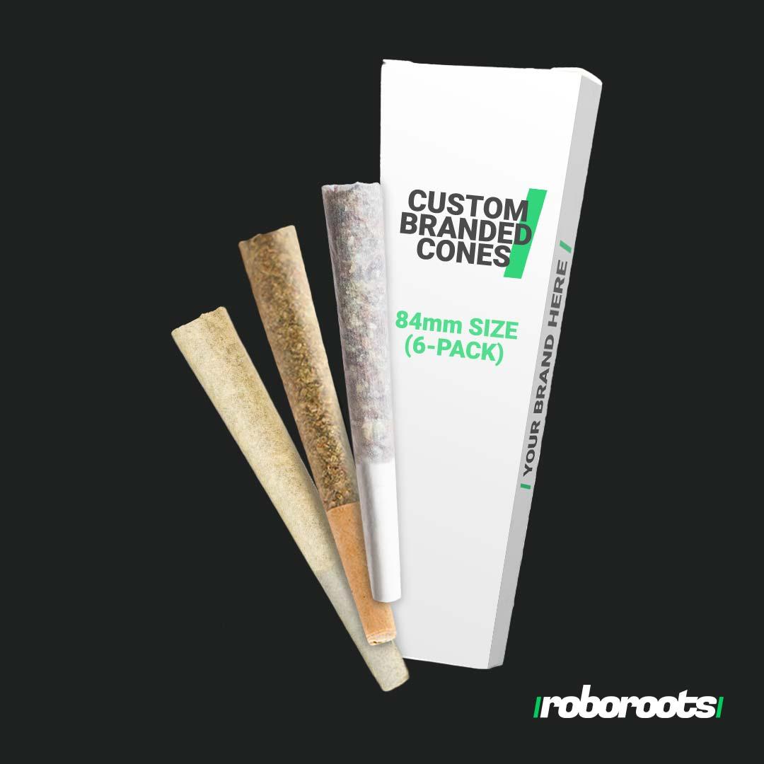 Custom Cone Cartons 84mm