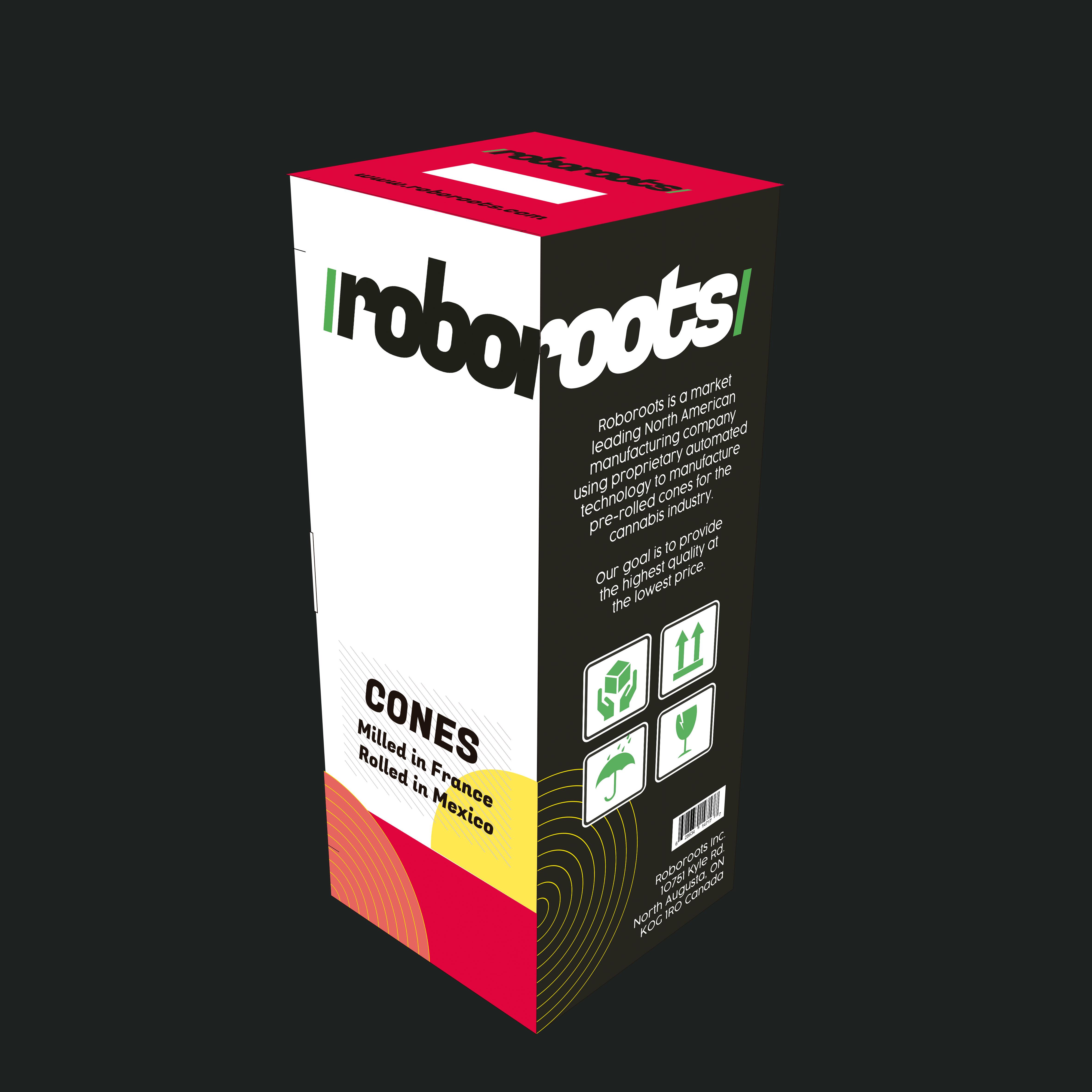 Roboroots unbranded cones - organic hemp