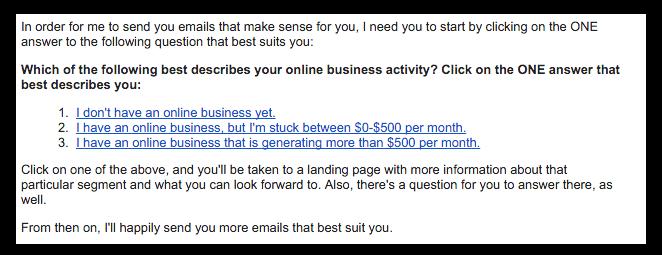 Pat Flynn Segmentation Email
