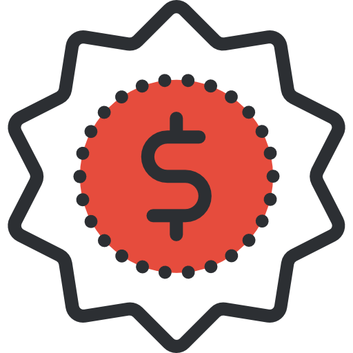 Red dollar icon