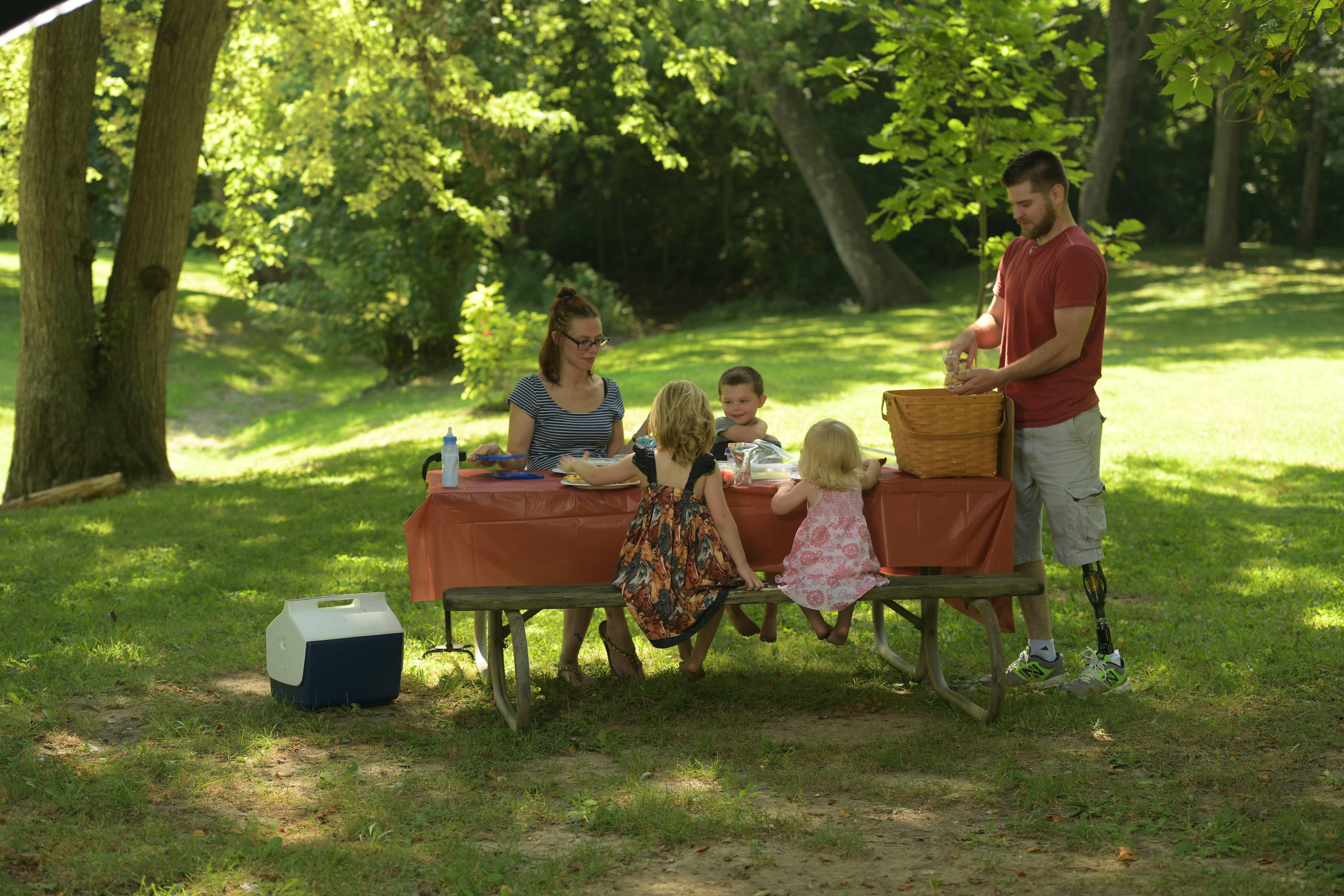 Prosthetic Leg family picnic Willowwood