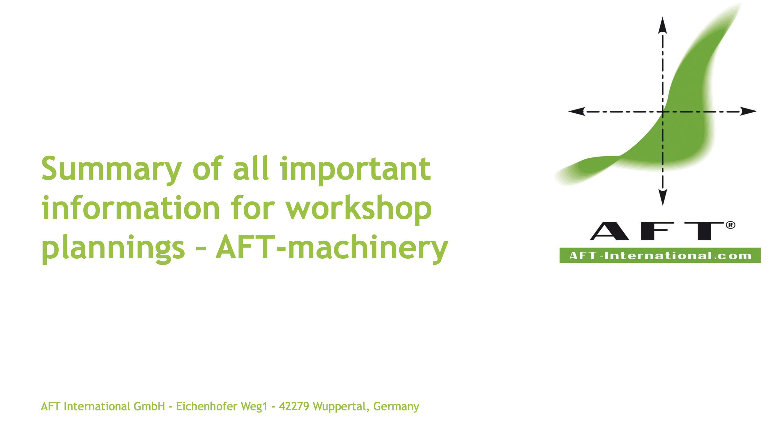 AFT Workshop Planning Part 1