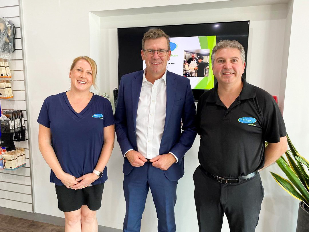 Alan Tudge MP Visits Massons Healthcare