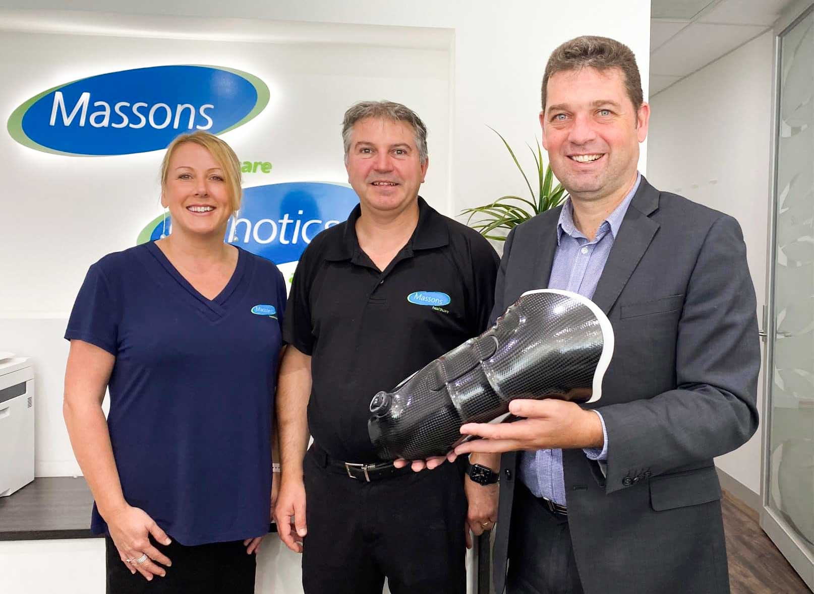 Nick Wakeling MP and Massons Healthcare Owners