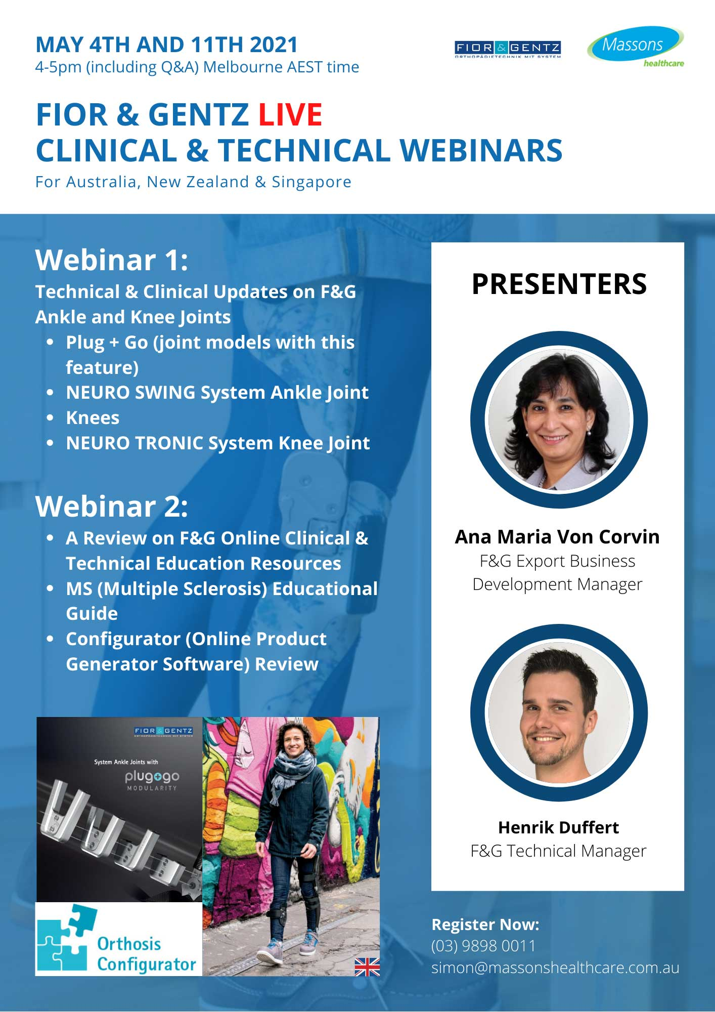 Fior & Gentz Webinar May 4th and 11th