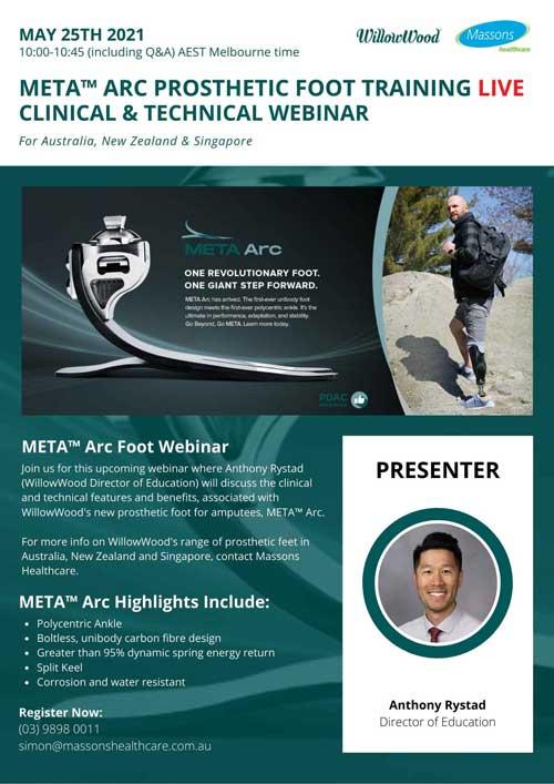 META™ Arc Prosthetic Foot Webinar May 25th