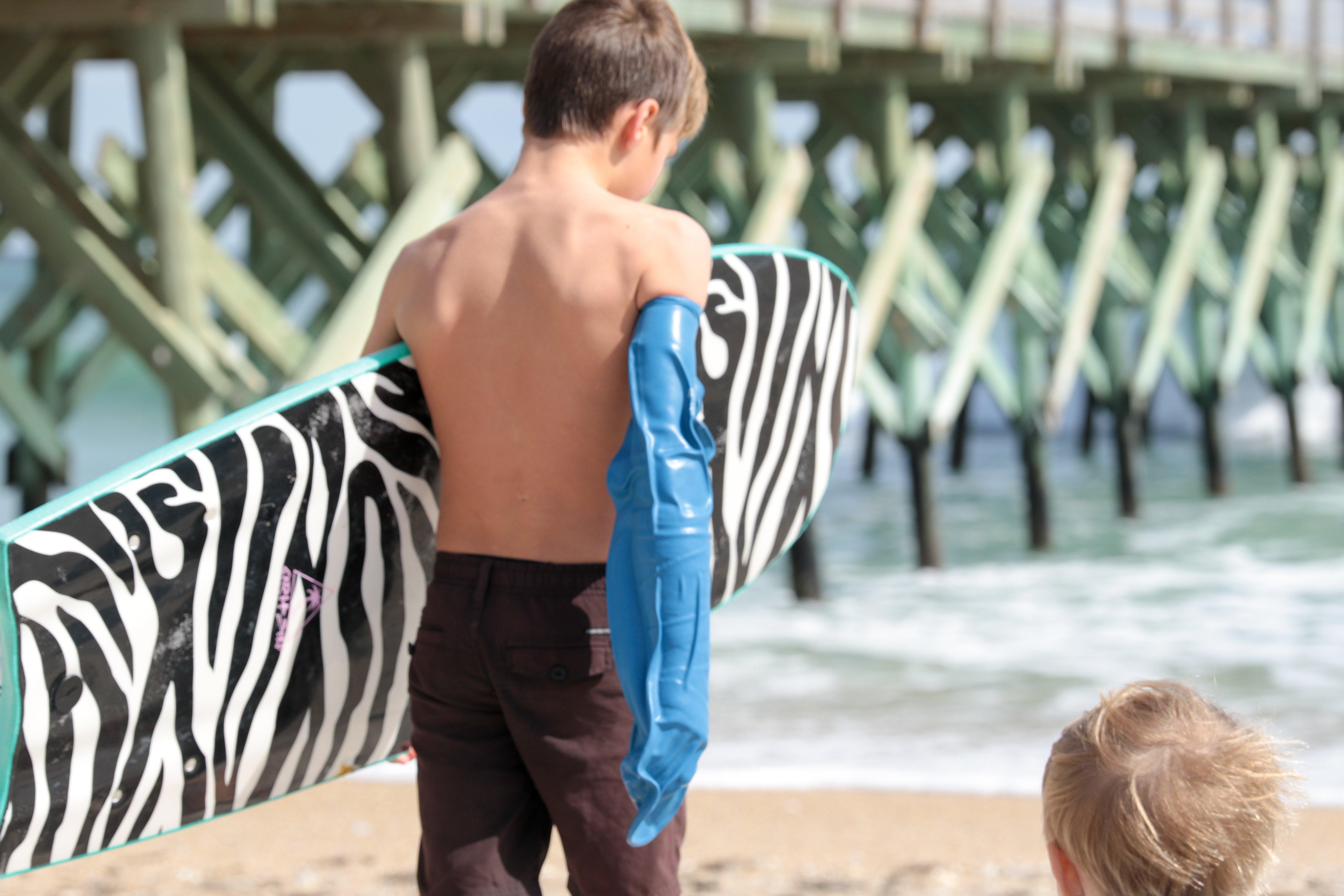 arm cover beach