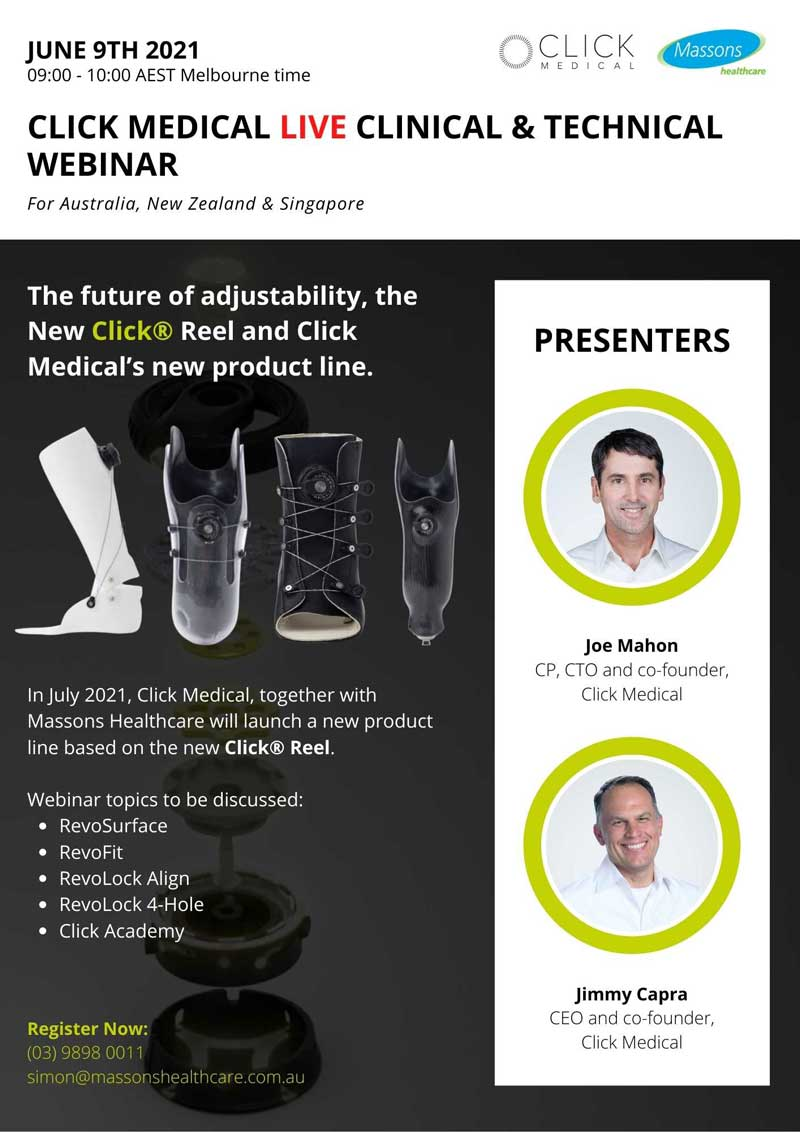 CLICK MEDICAL Clinical & Technical LIVE Webinar June 9th