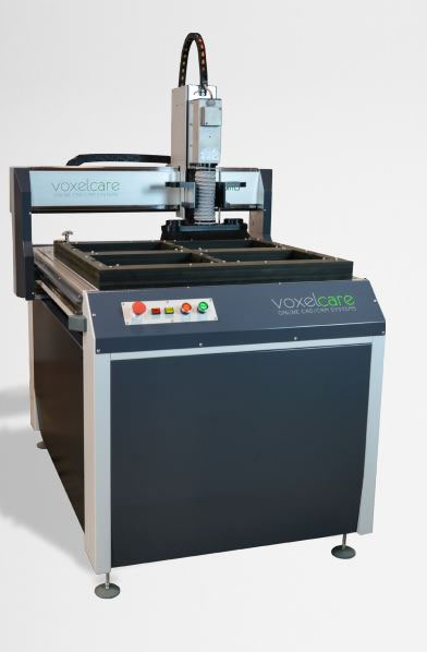 Voxelcare milling machine for custom insole fabrication