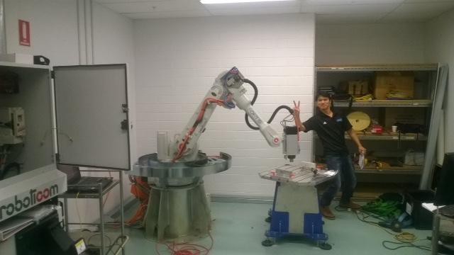 Oscar Ortis robot installation