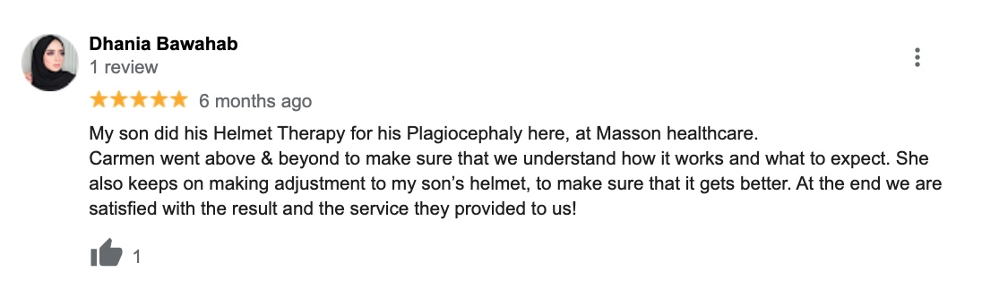 plagiocephaly review Massons healthcare