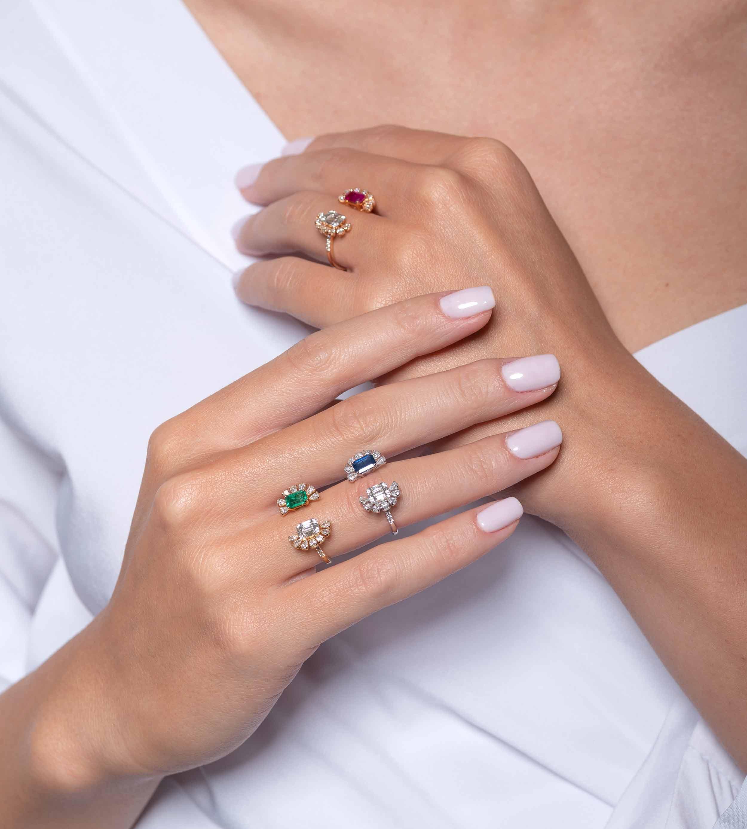 Δαχτυλίδια Χρωματιστά