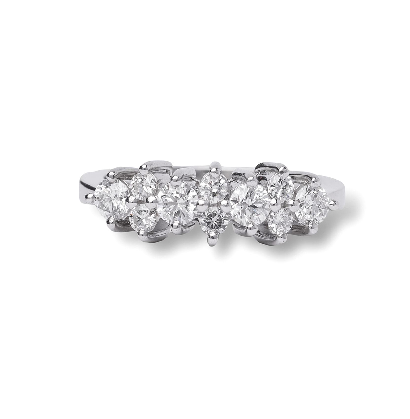 Βέρα 950 Πλατίνα με Round Διαμάντια