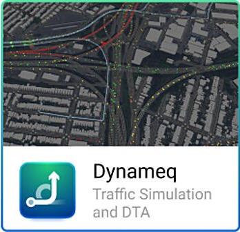 Dynameq DTA and traffic simulation software