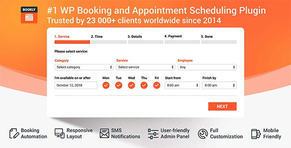 Bookly PRO – Core Plugin – Appointment Booking And Scheduling Software System