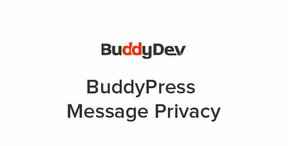 BuddyPress Message Privacy