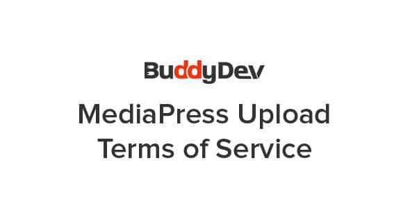 MediaPress Upload Terms Of Service