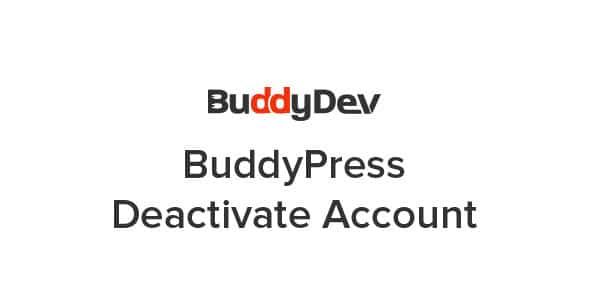 BuddyPress Deactivate Account